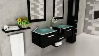 """58"""" Estrella Double Bathroom Vanity - Espresso"""