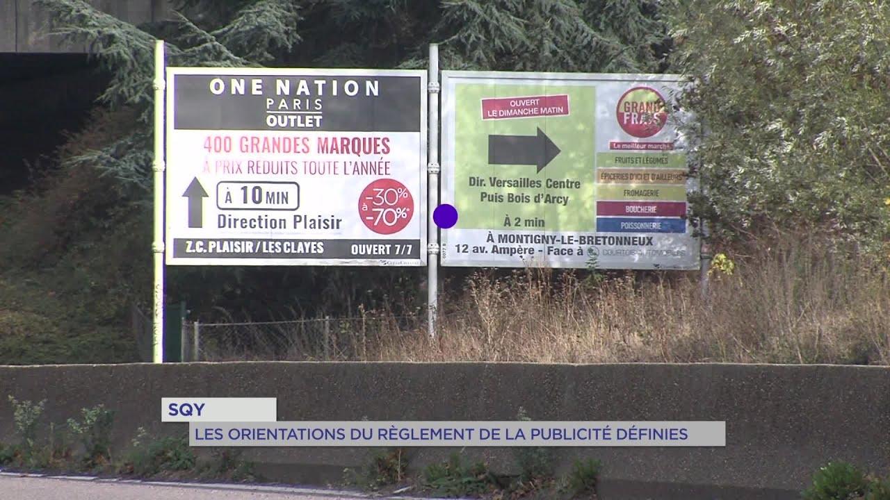 Yvelines | SQY : les orientations du règlement de la publicité définies