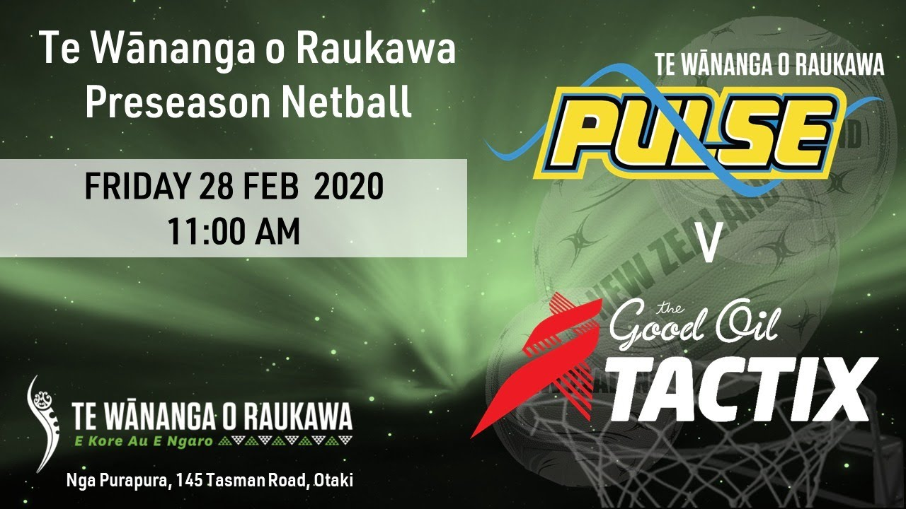 Download Pulse v Tactix Preseason Tournament Game 1   Netball   Sky Sport