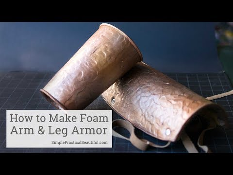 How to Make Foam Armor that Looks Like Hammered Metal