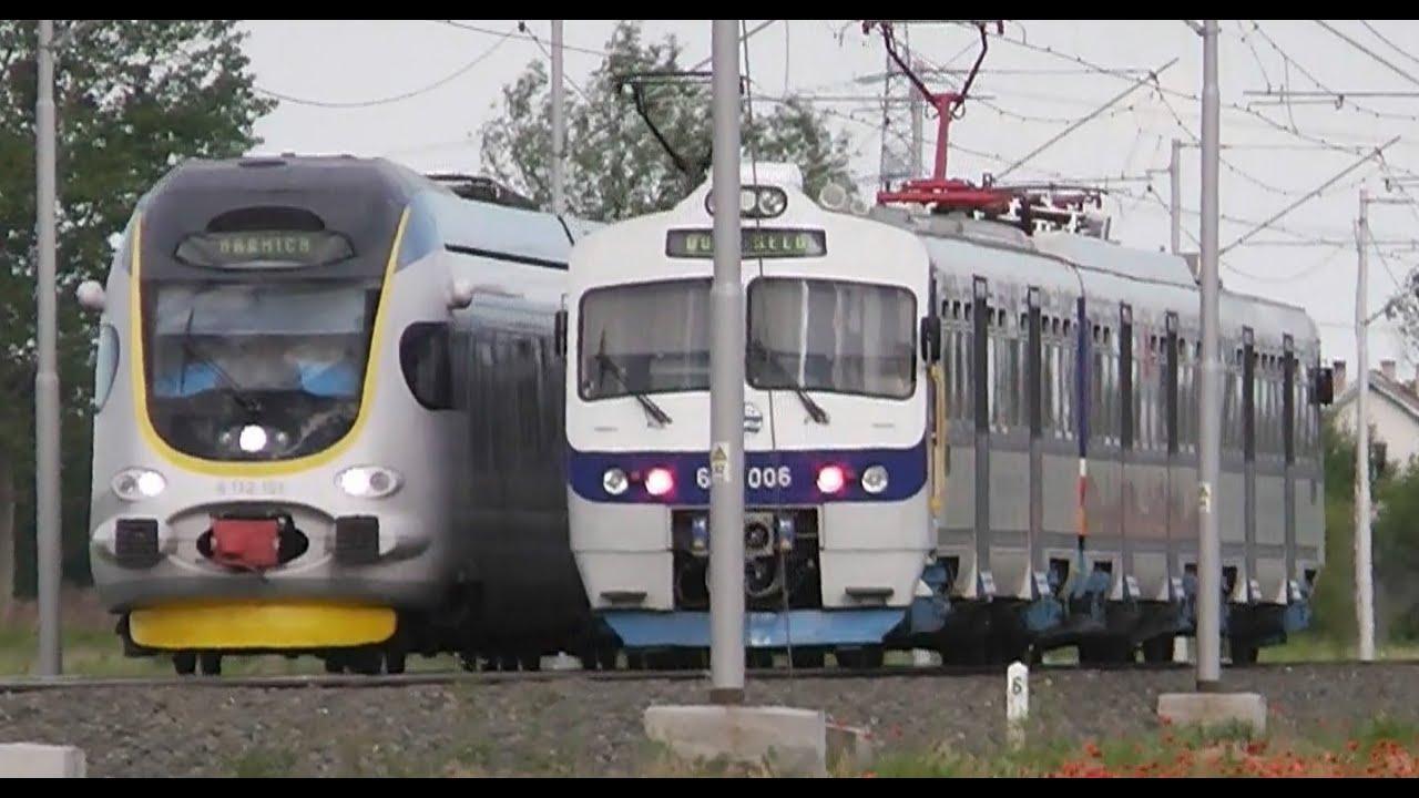 Novi Hz Vlak Emv 6112 I Stari Emv 6111 New Croatian Train Class 6112 Vs Old Train Class 6111 Youtube