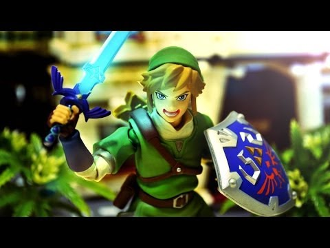 Zelda Stop Motion - Figma Link and Black Rock Shooter 薩爾達傳說停格動畫