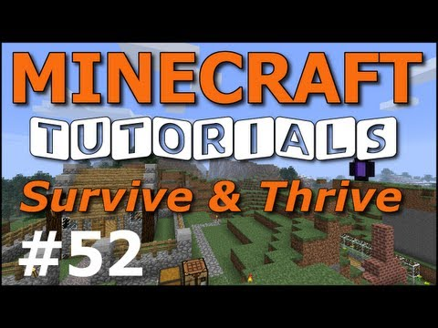 Minecraft Tutorials - E52 Jukebox and Music Discs (Survive and Thrive II)
