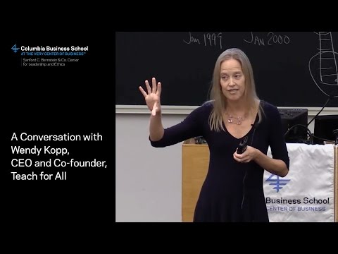A Conversation with Wendy Kopp, CEO and Co-founder, Teach for All