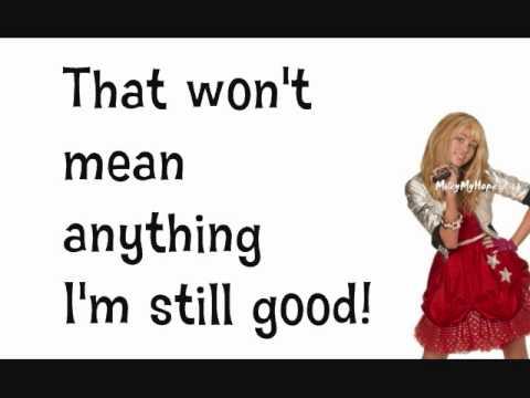 Hannah Montana Forever- I'm Still Good With Lyrics (HQ FULL song)