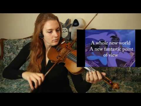 A beautiful VIOLIN GIRL cover of A Whole New World from Disney's Aladdin