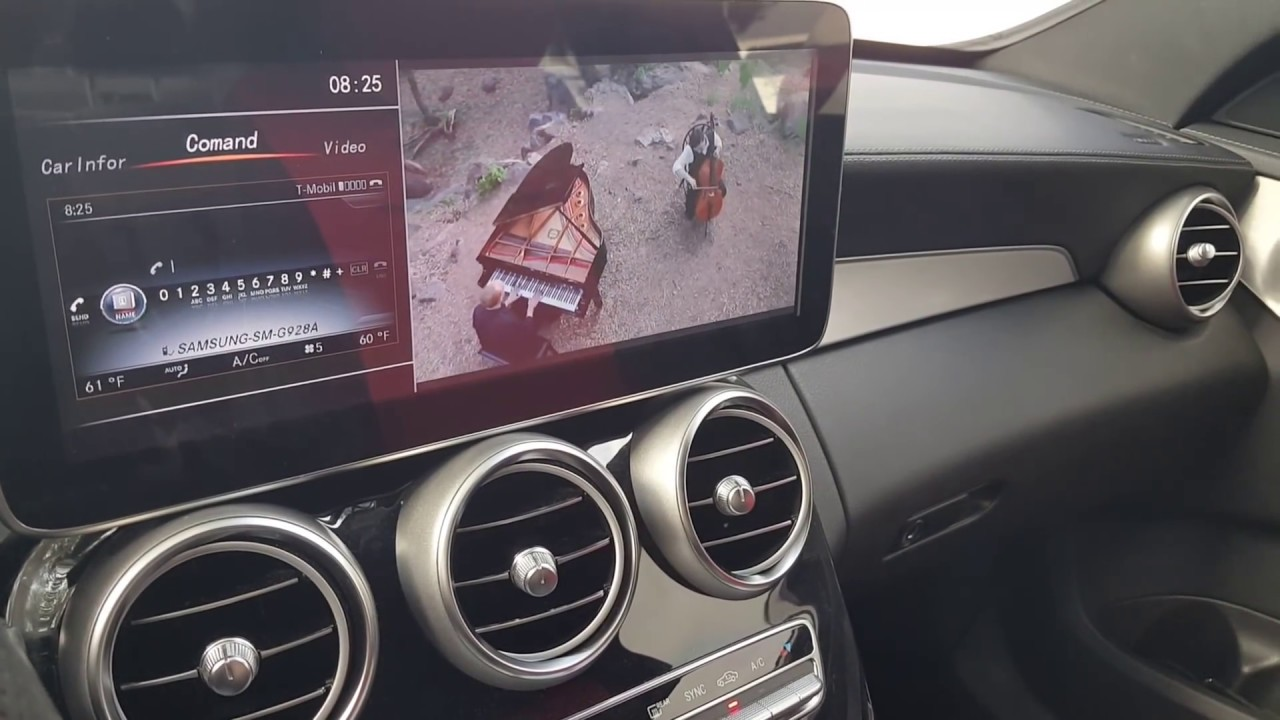 Mercedes C300 W205 Multimedia 12inch LCD Upgrade YouTube