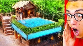 He Built An INSANE SECRET JUNGLE POOL HOUSE!