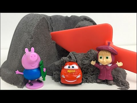 UNBOXING PLAYTIVE JUNIOR SAND TOYS SAND PLAY WITH KINETIC SAND AND MAKE CAKES & ICE CREAM SURPRISES