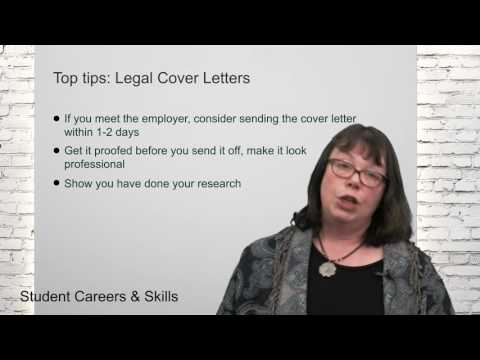 Top Tips: Legal Cover Letters (Legal Cover Letters)