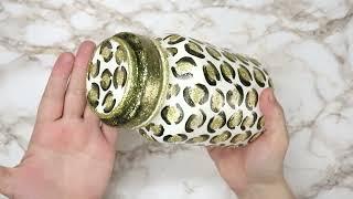 DIY /Beautiful  glass jar decorating  idea