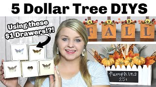 5 Dollar Tree DIYS Using These $1 Wood Drawers?!? | DIY Dollar Tree Fall 2020 | Krafts by Katelyn