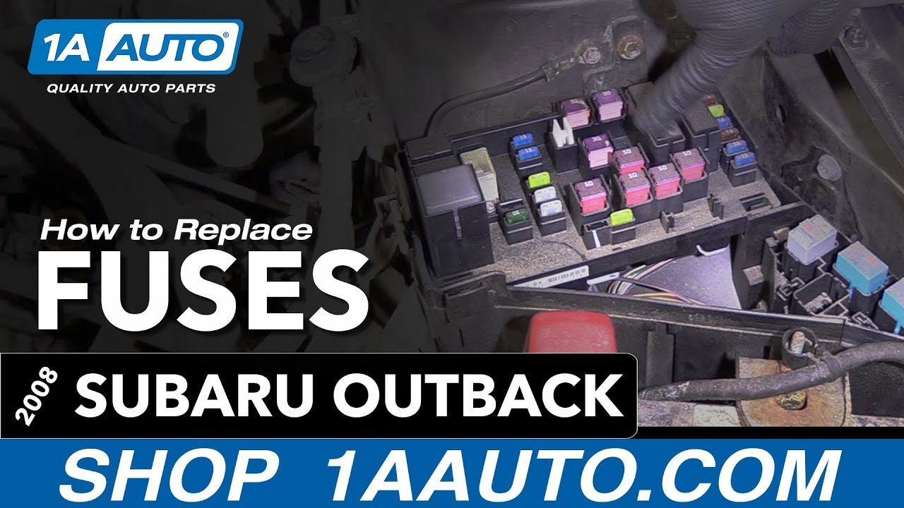 how to check replace fuses 04 09 subaru outback [ 1280 x 720 Pixel ]