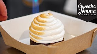 Behind The Scenes at Crumbs & Doilies' S'mores Alaska Party! | Cupcake Jemma