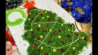 Украшение новогодних блюд. Новогодняя елка. 50 фото.