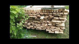 видео Как сушить пиломатериалы естественной влажности (укладка)