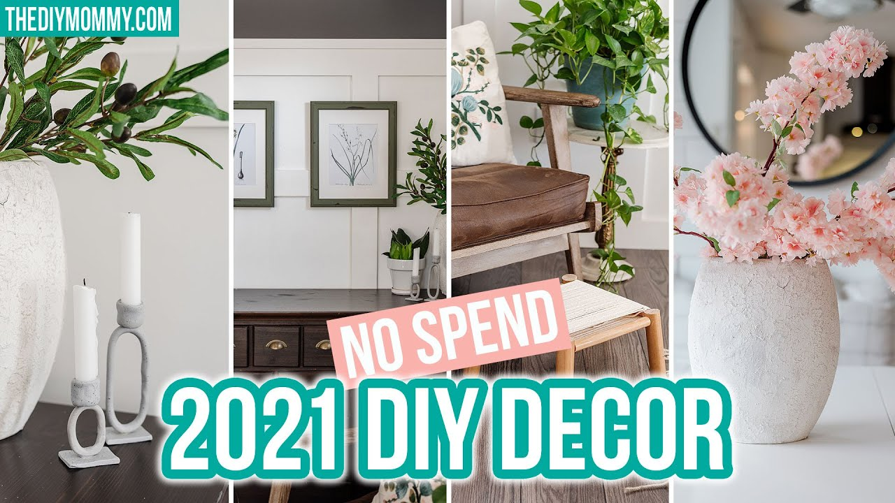 DIY 2021 decorating trends with things I have at home   DECOR on a BUDGET