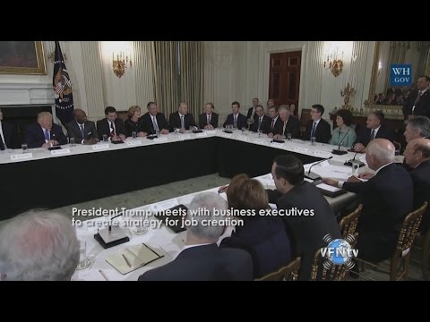 President Trump Meets with Business Executives and Puts Words to Action and Signs Executive Order