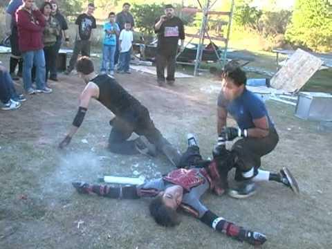 ESW Backyard Wrestling - Wicked J & Beaner vs Aztec ...