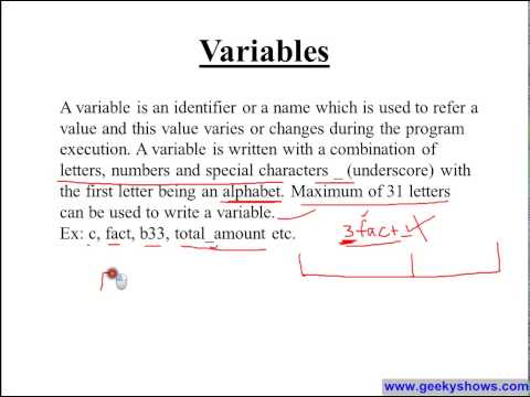 Constants, Variables, Data Types in C Programming defined in Hindi