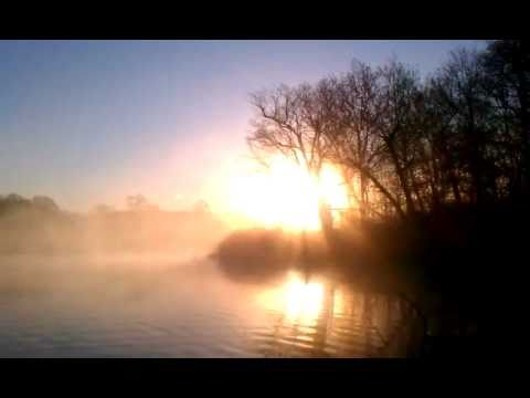 Sunday morning sunrise on Carr Pond in North Kingstown, RI