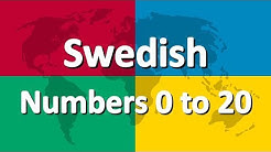 Learn Swedish part 4 | Numbers 0 to 20