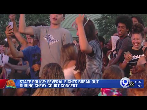 State Police: Several fights break out during Chevy Court concert Sunday night