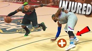 LeBron James Ankles BROKE & Injured In The All-Star Game - NBA 2K17 MyCareer