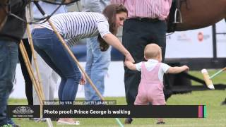 Photo Proof: Prince George Is Walking - TOI