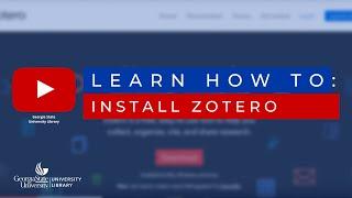 How to install Zotero