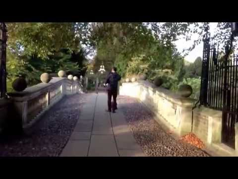 The west gate of Clare College that, in this video, leads the the the Clare College Bridge.
