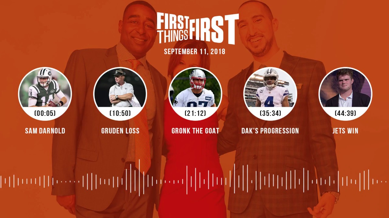 First Things First audio podcast(9.11.18) Cris Carter, Nick Wright, Jenna Wolfe | FIRST THINGS FIRST