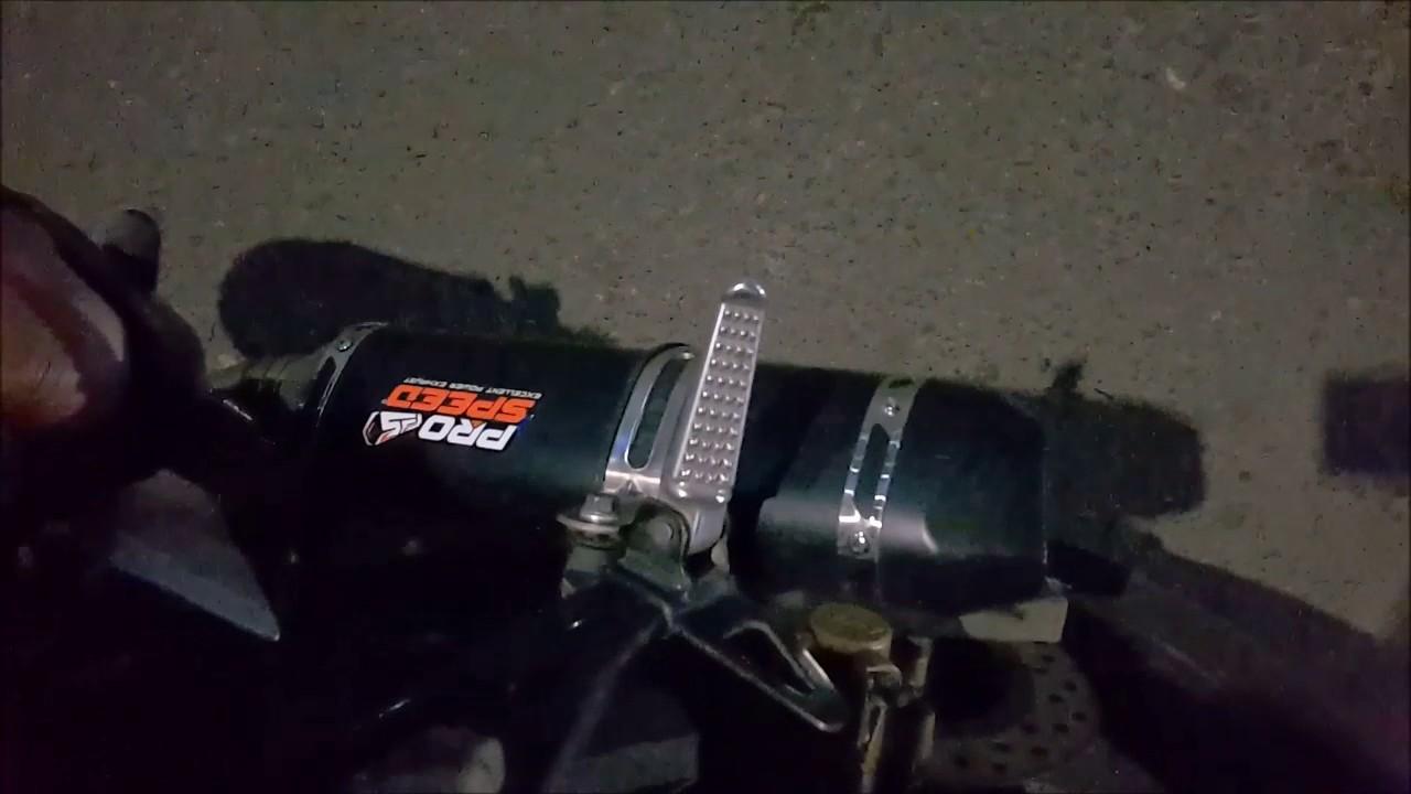 Suara Knalpot Prospeed Black Cnc On Cb 150r K15a Old Youtube Mf Series Honda Sonic150r