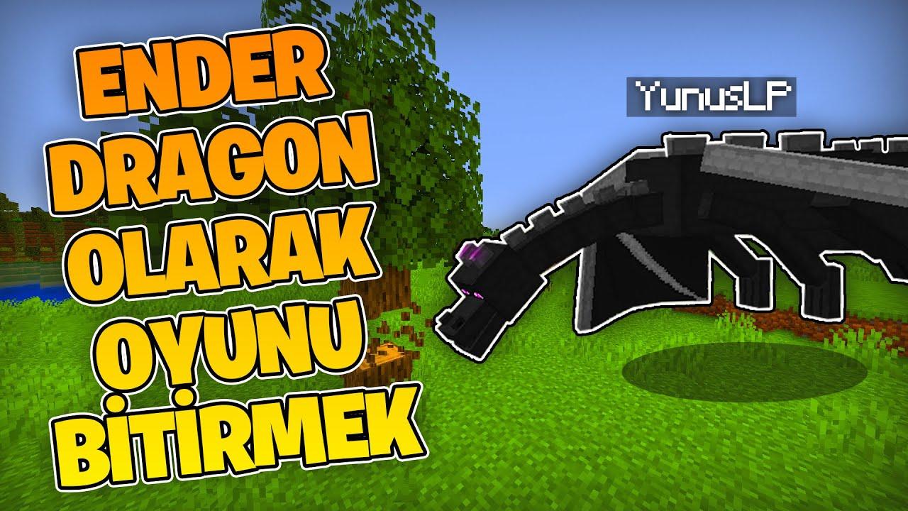 Minecraft'ı Ender Dragon Irkı Olarak Bitirmek!