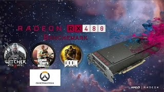 amd rx 480 gaming benchmarks    gta 5    overwatch    the witcher 3    doom