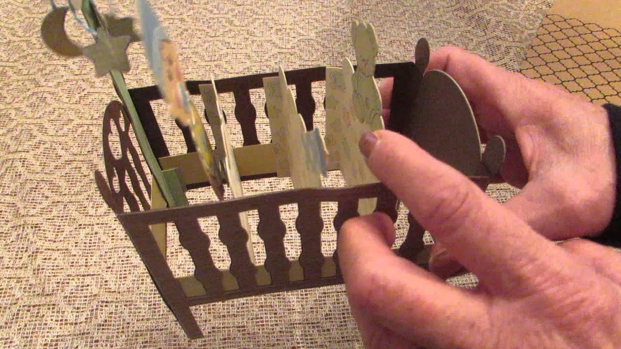 Cricut Card Making Ideas Youtube Part - 38: Baby Boy Crib Card