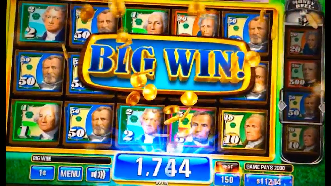 Slot machine money rain
