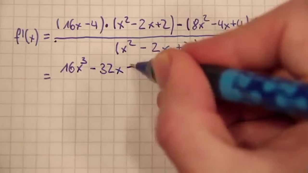 3 - Quotientenregel Ableitung - YouTube