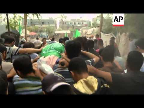 Funeral held for Palestinian militant killed in Israeli airstrike