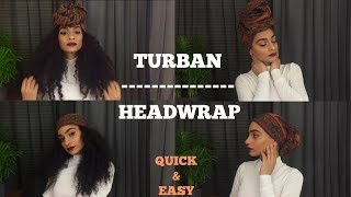 How To 4 Easy Headwrap Turban Styles Curly And Natural Hair Friendly Youtube