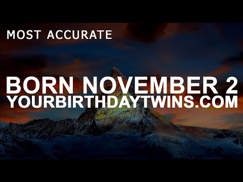 Born on November 2 | Birthday | #aboutyourbirthday | Sample