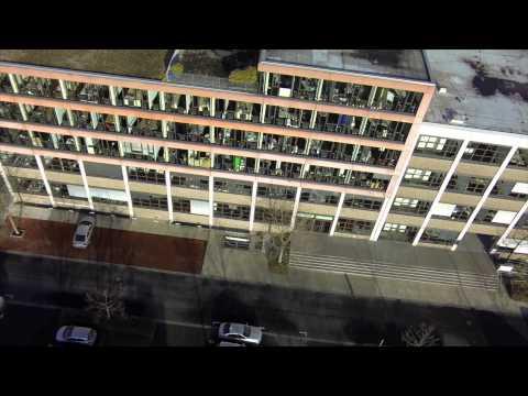 Bürogebäude Köln aus der Luft