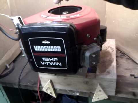 11 Hp Briggs And Stratton Engine Diagram Briggs Amp Stratton Vanguard 16 Hp V Twin Youtube