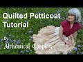 Quilted Petticoat Tutorial - Historically inspired undergarment sewn with Pfaff Performance Icon