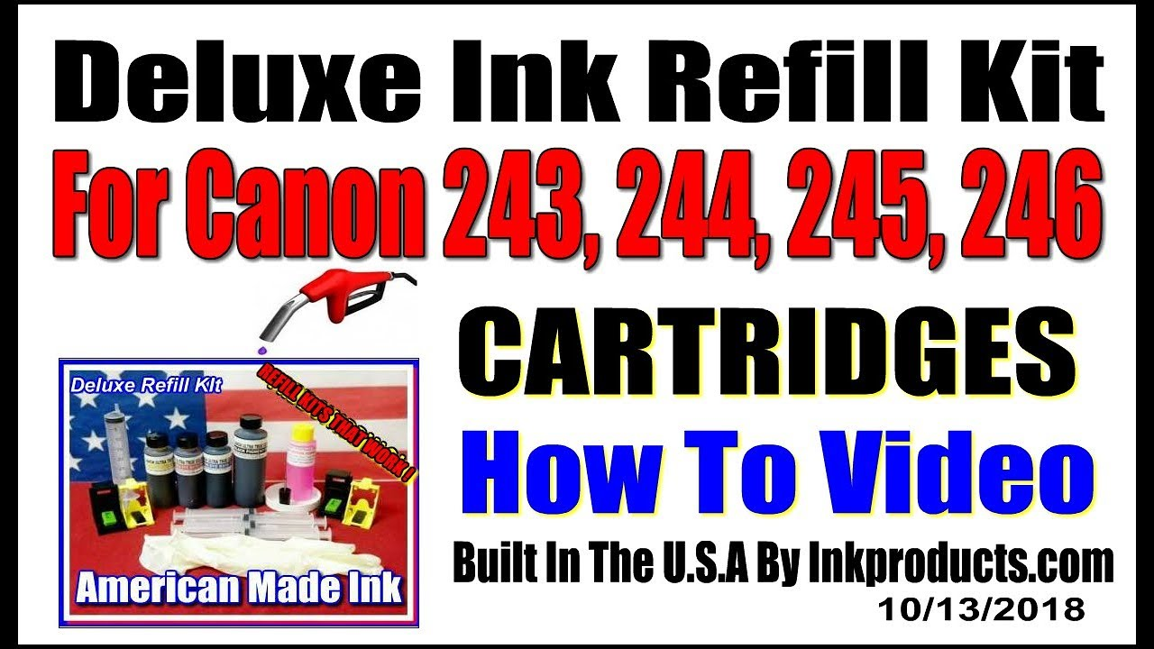 How To Refill The Canon PG 243, CL 244, PG 245, CL 246 Cartridges