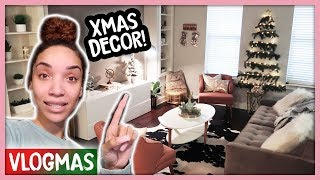 Clean & Decorate With Me! (Christmas Decor Haul) | Vlogmas Ep. 3