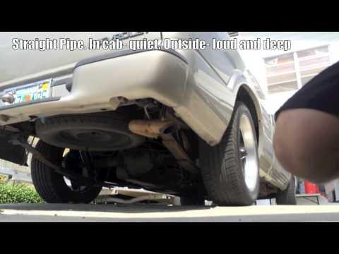 4 3L V6 Chevy S10 Exhaust  Straight Pipe Sound Comparison