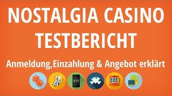 Nostalgia Casino Testbericht: Anmeldung & Einzahlung erklärt [4K]