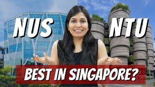 NUS vs NTU - Best University in Singapore?   Where should you study