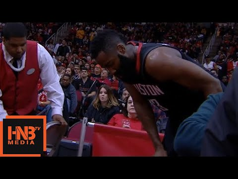 James Harden Injury / leaves the game / Rockets vs LA Lakers